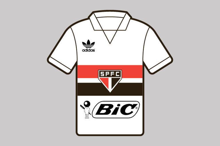 Algumas empresas de outros segmentos se aventuraram nas camisas de futebol neste período. Uma delas foi a BIC, que estampou o uniforme do São Paulo em 1987.