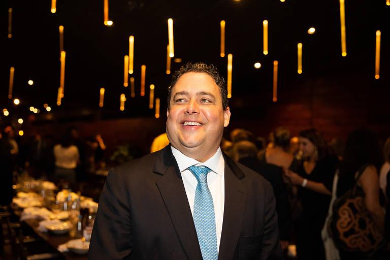 O presidente da OAB, Felipe Santa Cruz, em jantar organizado em São Paulo pelo órgão com a Associação Brasileira de Juristas pela Democracia