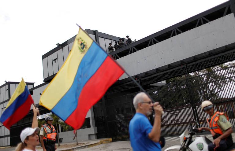 Protestos na Venezuela no sábado (4)