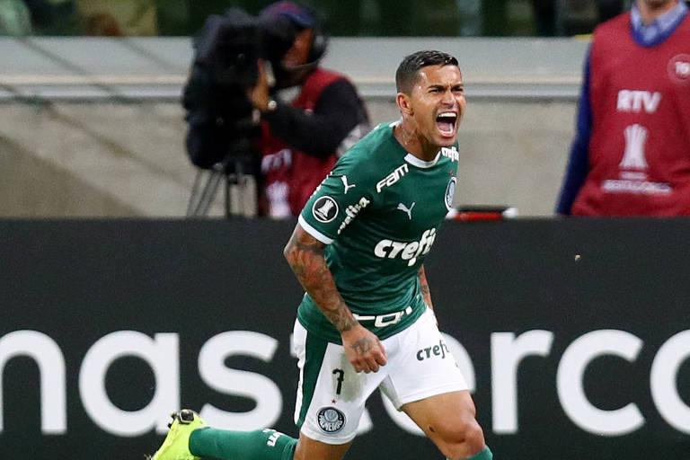 Dudu comemora gol na Libertadores