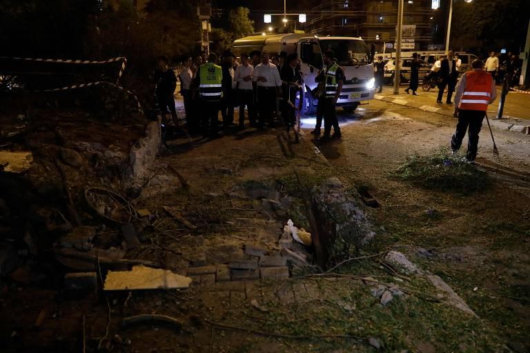 Ataques entre faixa de Gaza e Israel no domingo (5)