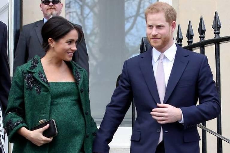 Harry e Meghan tiveram seu primeiro filho nesta segunda-feira, 6 de maio
