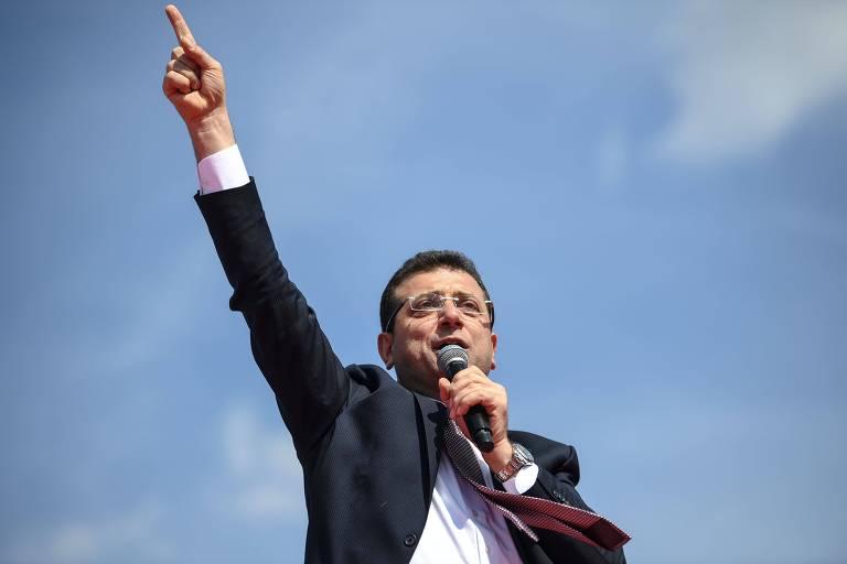 Ekrem Imamoglu, candidato opositor que ganhou as eleições para prefeito em Istambul