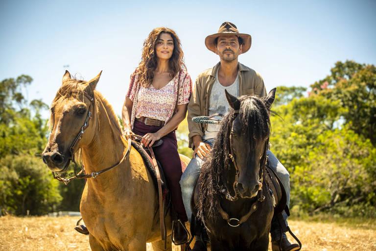 """Maria Da Paz (Juliana Paes) e Amadeu (Marcos Palmeira) em """"A Dona do Pedaço"""""""