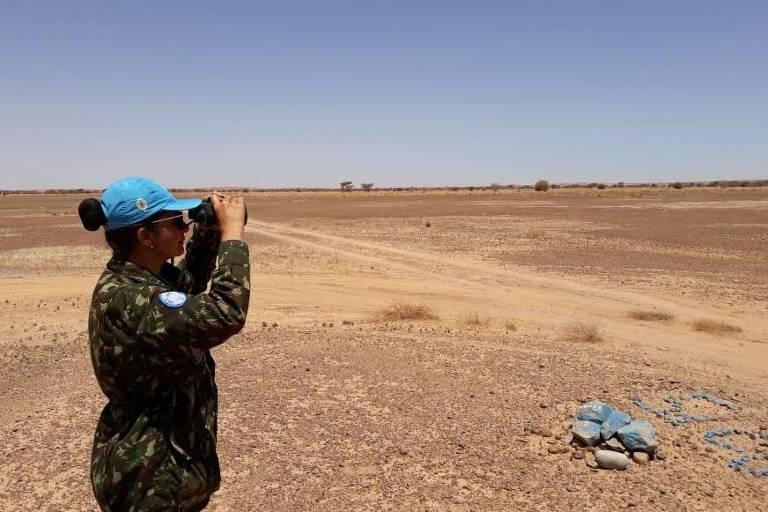A tenente-coronel Andréa Firmo comandou a base militar em Tifariti, no deserto do Saara, parte da Minurso (Missão das Nações Unidas para o Referendo no Saara Ocidental)