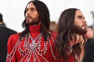 Annual Met Gala, co-chaired by Lady Gaga, Serena Williams, Harry Styles and Gucci designer Alessandro Michele