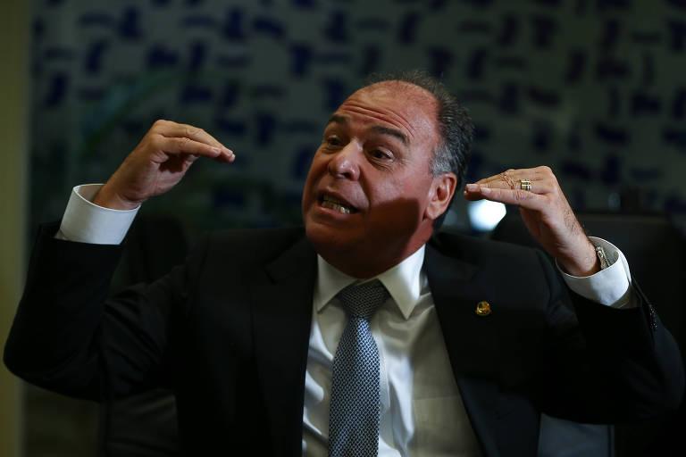 O senador Fernando Bezerra Coelho (MDB-PE), líder do governo no Senado