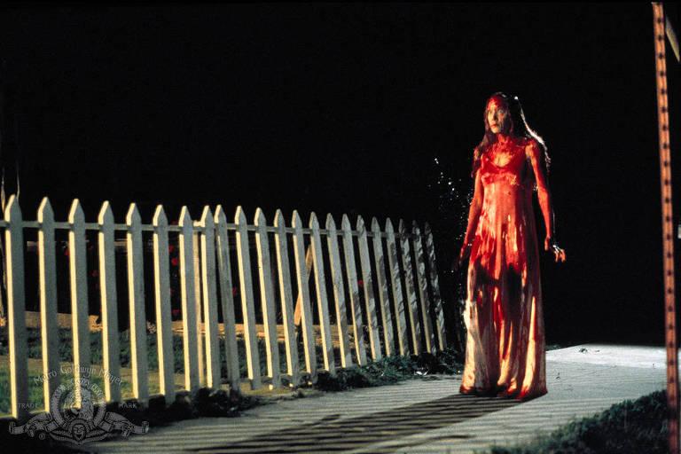 """Sissy Spacek em cena de """"Carrie, a Estranha"""" (1976)"""