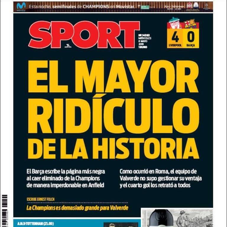 Capas esportivas dos jornais europeus nesta quarta (8)