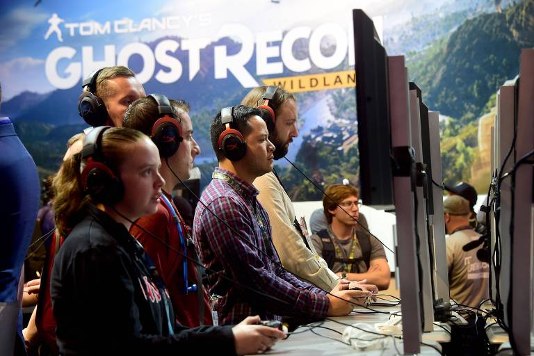 Gamers da Ubisoft na Electronic Entertainment Expo (E3) 2016