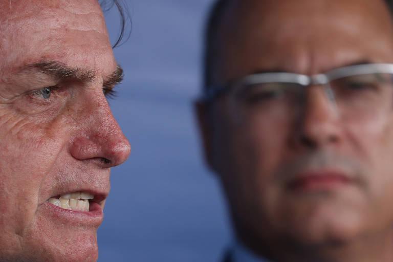 O presidente Jair Bolsonaro e o governador do Rio de Janeiro Wilson Witzel