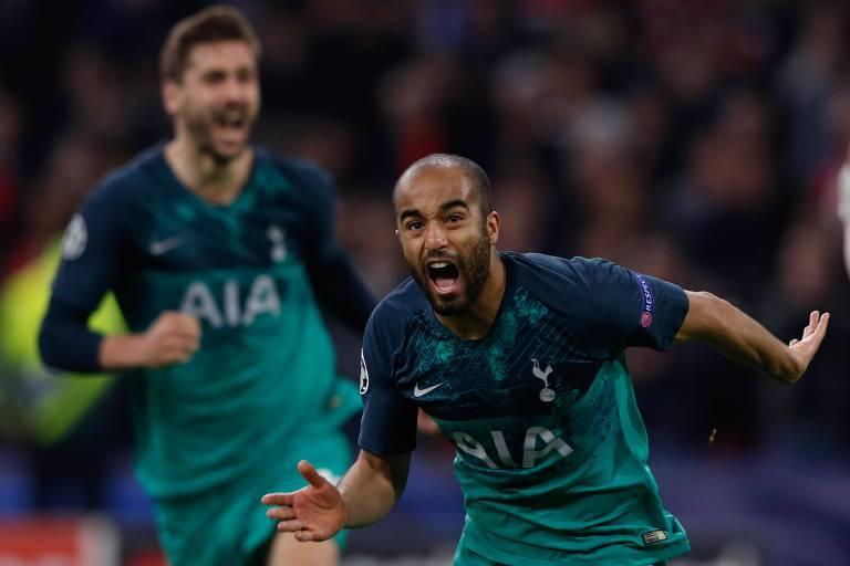 Lucas foi o grande herói da classificação do Tottenham à final da Champions