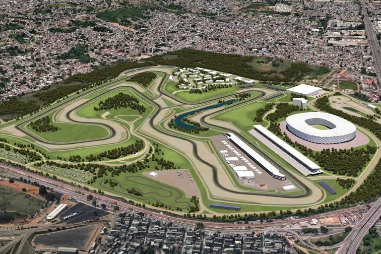 Projeto para construir autódromo no bairro de Deodoro, no Rio de Janeiro