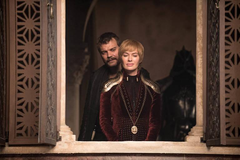 """Pilou Asbaek e Lena Headey em """"Game of Thrones"""""""