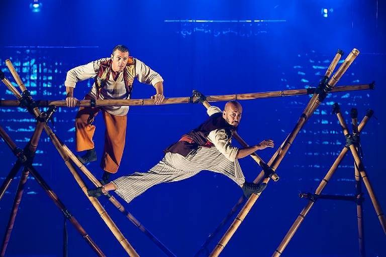 Cena do espetáculo 'Simbad, o Navegante', em cartaz no Teatro Alfa