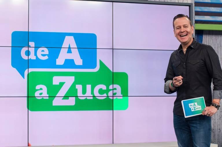 Celso Zucatelli com o programa De A a Zuca na TV Gazeta
