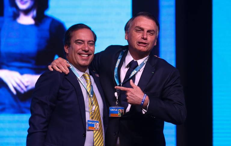 Bolsonaro em evento da Caixa Econômica Federal