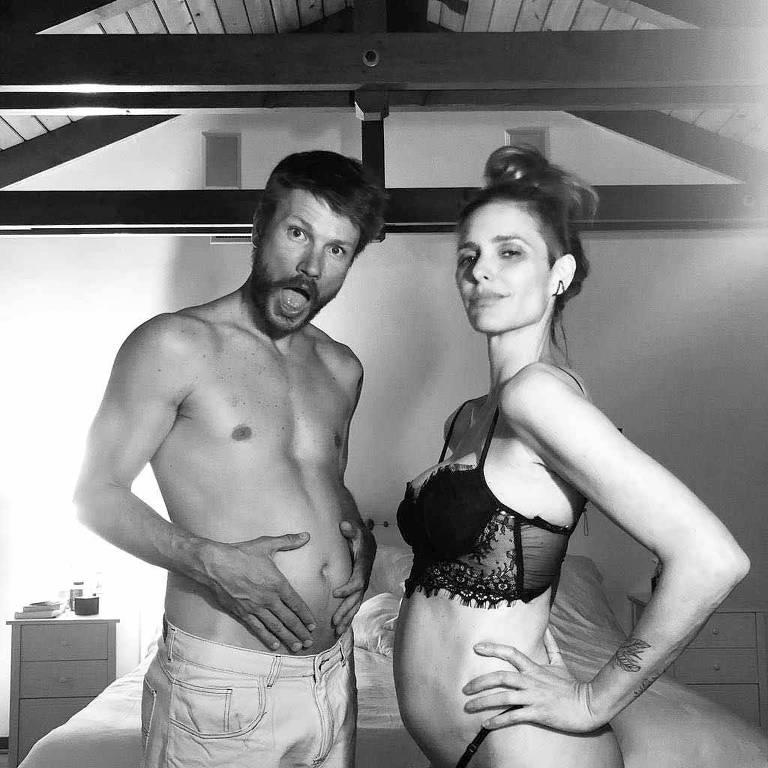 O casal Rodrigo Hilbert e Fernanda Lima