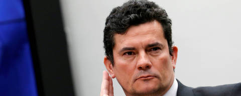 FILE PHOTO: Brazil's Justice Minister Sergio Moro attends a session of the Public Security commission at the National Congress in Brasilia, Brazil, May 8, 2019. REUTERS/Adriano Machado/File Photo ORG XMIT: FW1