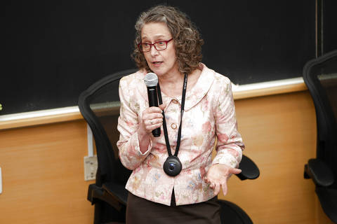 A jornalista americana Sally Lehrman, diretora do Projeto Credibilidade (Trust Projetc). Foto: Juliana Farinha