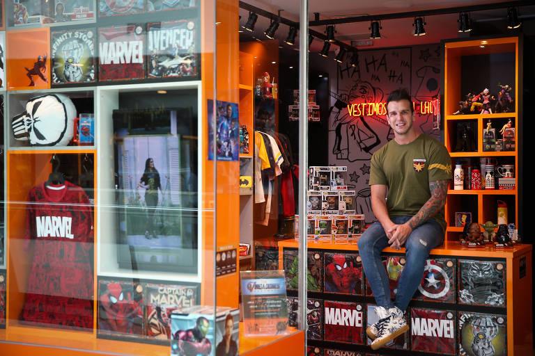Felipe Rossetti, sócio da Piticas, em loja da marca em São Paulo