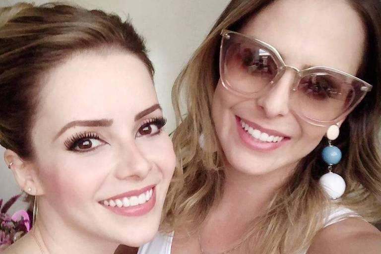 Sandy e Aline, primas, filhas de Xororó e Chitãozinho, respectivamente
