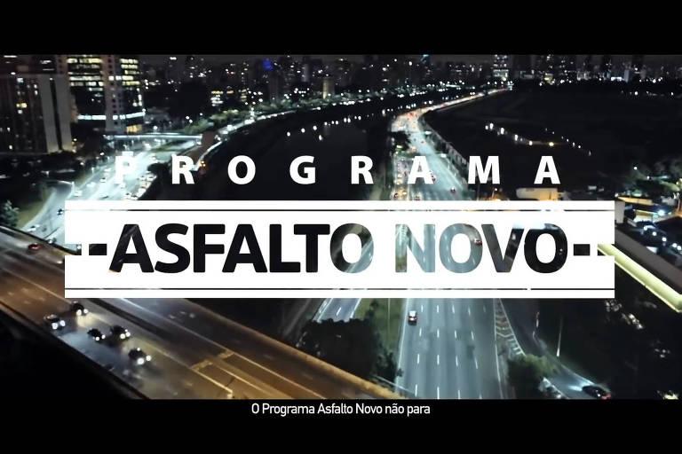 Gestão gastou o equivalente a 20% do custeio do Asfalto Novo para divulgá-lo
