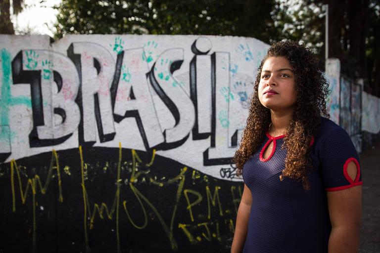 Jenifer Silva Cavalcanti, 15, que levou dois tiros no ataque à escola Raul Brasil, há dois meses