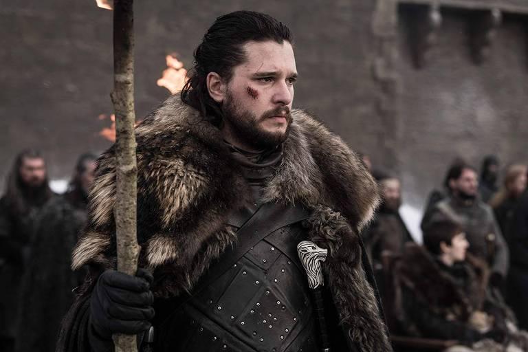 Kit Harington no episódio 4 da temporada 8,  'The Last Of The Starks', de 'Game of Thrones'