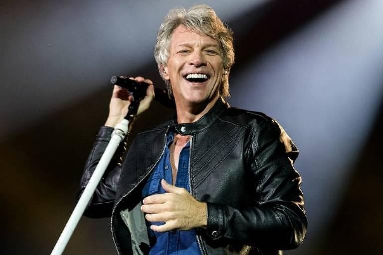 Jon Bon Jovi em show no São Paulo Trip, no Allianz Parque