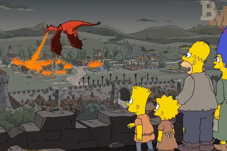 """Os Simpsons"" previu cena do penúltimo episódio de Game of Thrones"