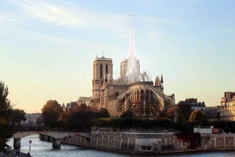 Plano de Notre-Dame contemporânea divide opiniões na França