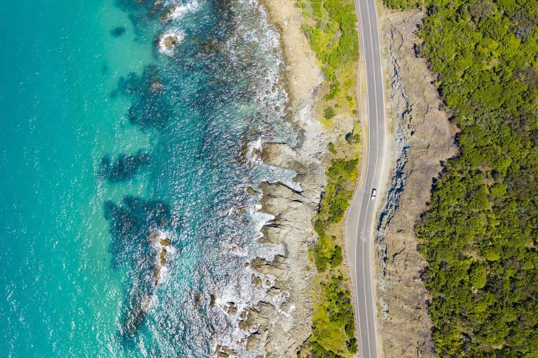 Trecho da Great Ocean Roda, na Austrália