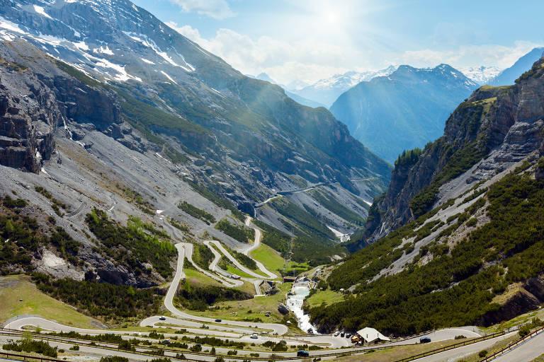 Passo dello Stelvio, estrada no norte da Itália