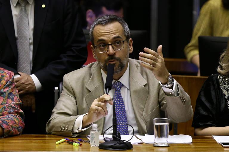 O ministro da Educação Abraham Weintraub no plenário da Câmara dos Deputados