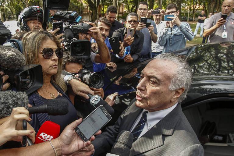Idas e vindas de Michel Temer na prisão