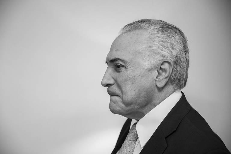 O ex-presidente Michel Temer em entrevista à Folha, em abril deste ano, em São Paulo