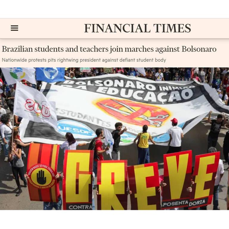 Repercussão dos protestos contra cortes na educação