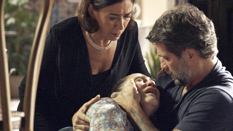 Judith (Isabela Garcia) confessa assassinatos a Gabriel (Bruno Gagliasso)