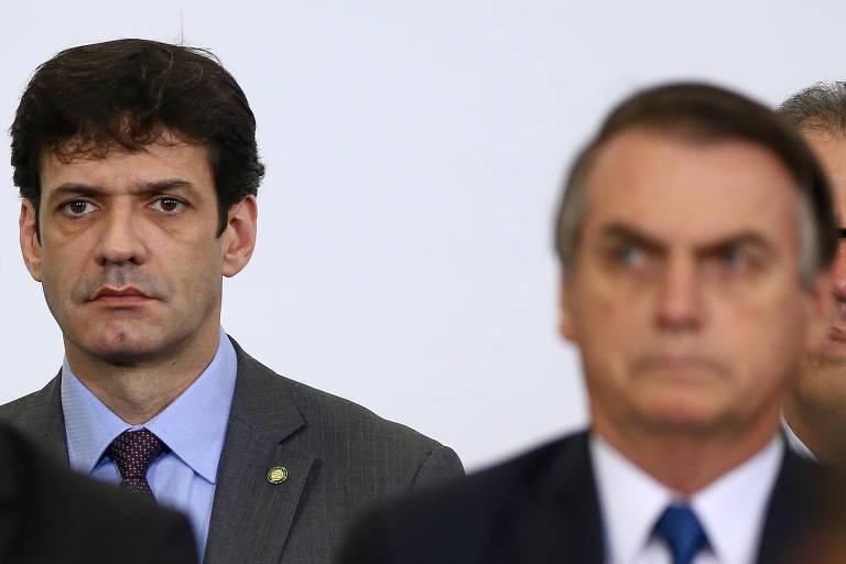 O presidente Jair Bolsonaro e o ministro do Turismo, Marcelo Alvaro Antonio