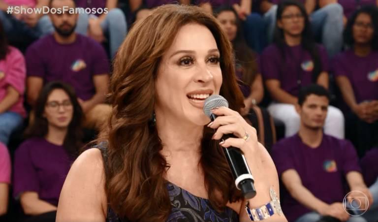 Claudia Raia durante o quadro Show dos Famosos