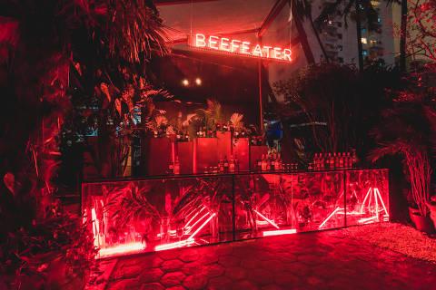 Bar temporário Beefeater Secret Garden