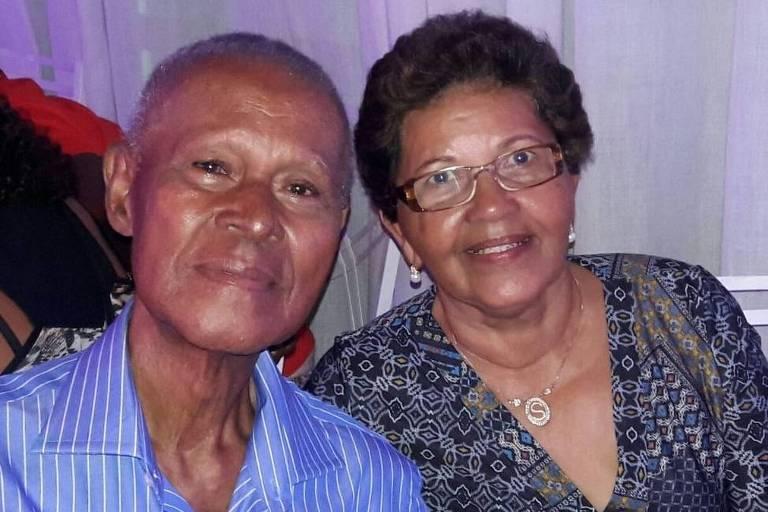 Diolino Gomes com sua esposa, Maria do Salete