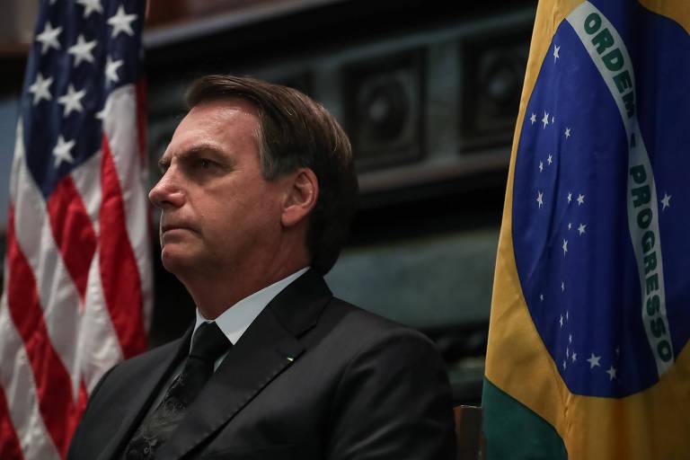 O presidente Jair Bolsonaro em Dallas, nos EUA