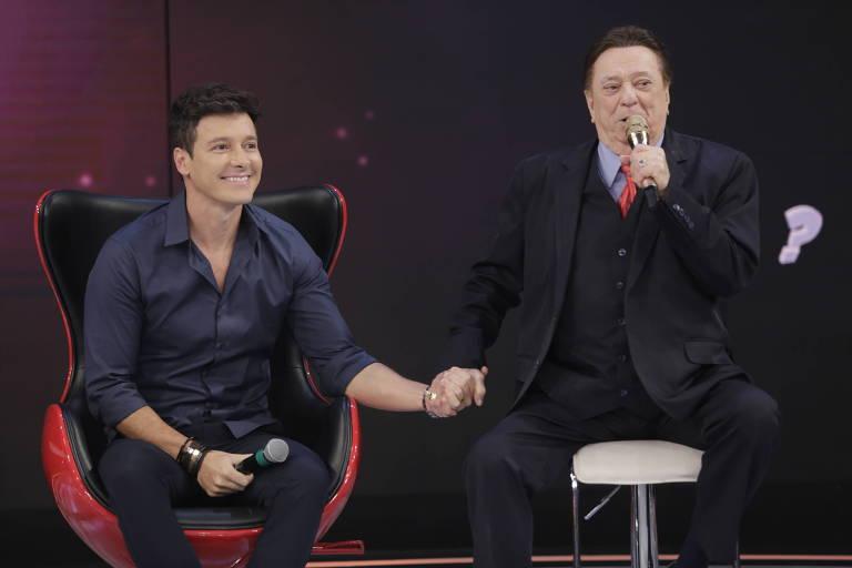 Rodrigo Faro vai ao programa de Raul Gil no SBT