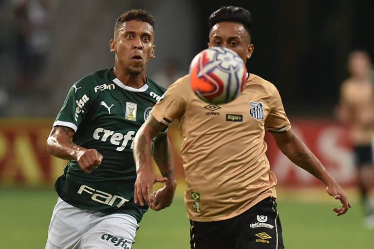 Palmeirense Marcos Rocha enfrenta o santista Cueva num sábado à noite pelo Paulistão; os times voltam a se enfrentar neste sábado (18)