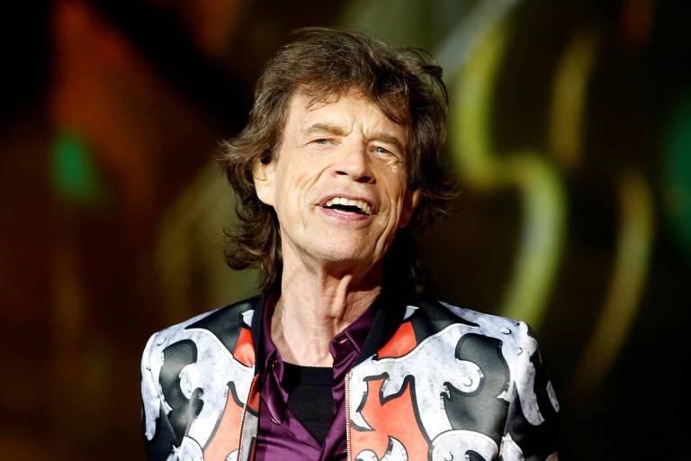 Mick Jagger, dos Rolling Stones, em show na França