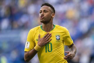 Partida entre Brasil e Mexico pela Copa do Mundo da Russia