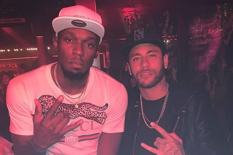Usain Bolt e Neymar se encontram em Paris