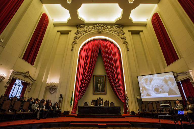 O Salão Nobre da Faculdade de Direito da USP, em São Paulo, que receberá evento sobre combate às fake news